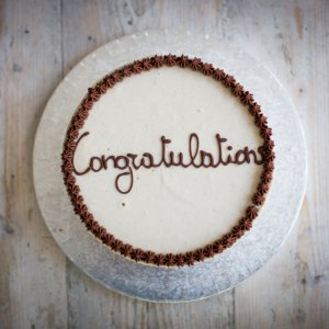 Layered Cake with Congratulations message